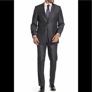 Perry Ellis Two Button Notch Lapel Trim Fit Suit